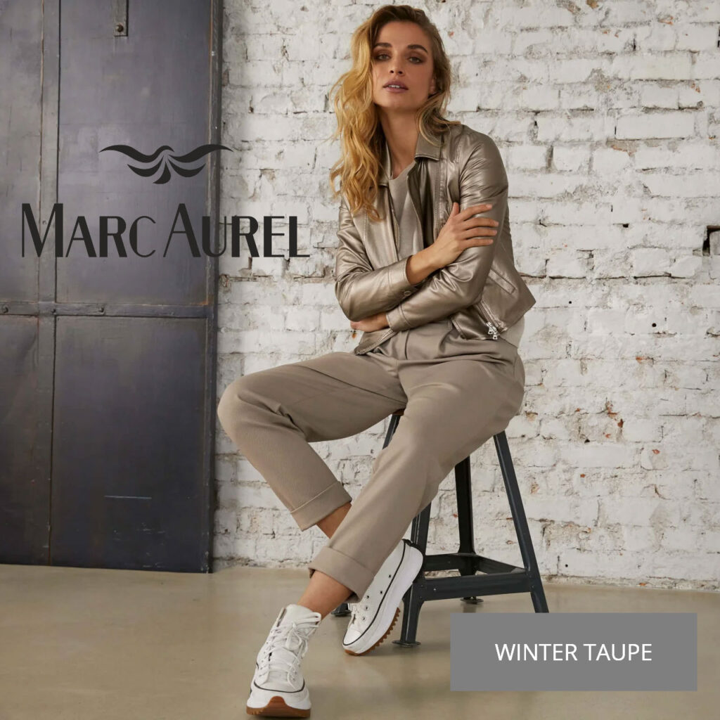 Pops-Fashion.com damesmode Marc-Aurel herfst 2021 winter taupe collectie.