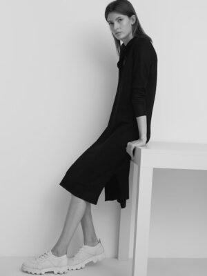 Marc O'Polo Gebreide jurk in polostijl black