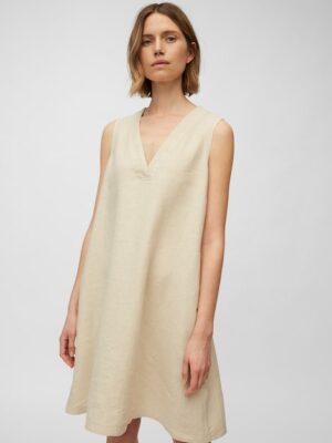 Marc O'Polo Mouwloze jurk summer taupe