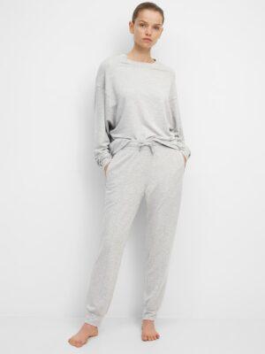 Marc O'Polo Yoga-broek van sweatstof stony grey