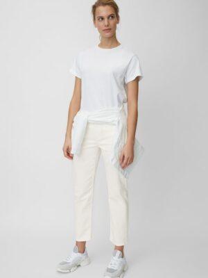 Marc O'Polo Broek model LINDE STRAIGHT high waist soft white