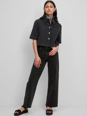 Marc O'Polo Broek model TOMMA high straight cropped multi/washed black