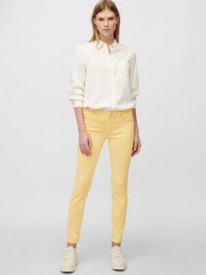 Marc O'Polo Broek model LULEA slim mid waist iced beige