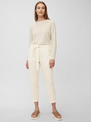 Marc O'Polo Paperbag pants chalky raw