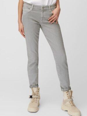 Marc O'Polo Broek model ALBY slim mid waist organic grey