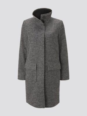 TOM TAILOR Tweed jas met opstaande kraag
