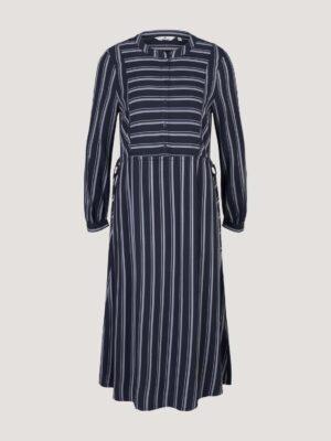 TOM TAILOR Gestreepte blouse jurk met trekkoord