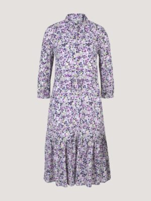 TOM TAILOR Midi blouse jurk met bloemen