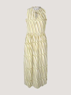 TOM TAILOR Mouwloze midi jurk met print