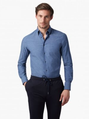 Cavallaro Napoli Heren Overhemd - Boiardo Overhemd - Blauw -
