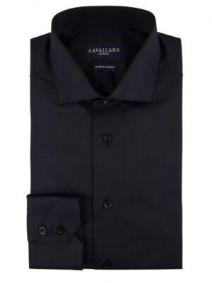 Cavallaro Napoli Heren Overhemd - Nosto Black Overhemd - Zwart -