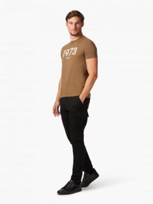 Cavallaro Napoli Heren Overhemd - Massari T-Shirt - Donker Taupe -