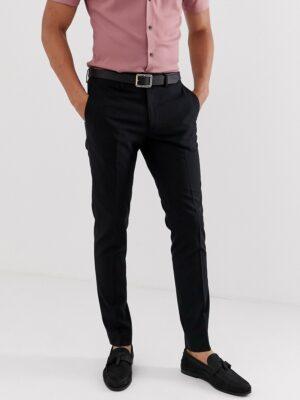 Jack & Jones Intelligence - Slim-fit nette broek in zwart