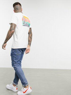Jack & Jones - Originals - T-shirt met print op de achterkant in wit