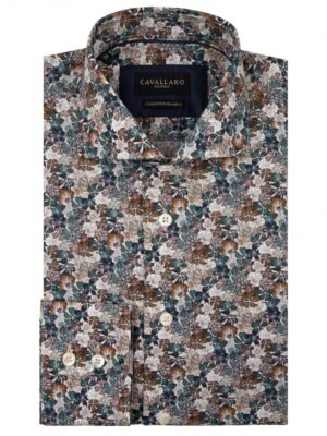 Cavallaro Napoli Heren Overhemd - Florando Overhemd - Multi colour -
