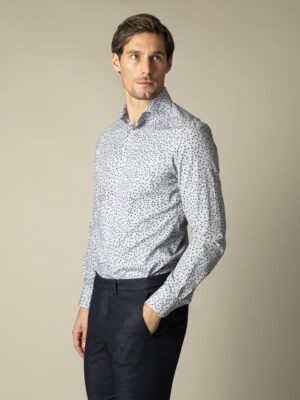 Cavallaro Napoli Heren Overhemd - Puntio Overhemd - Blauw -