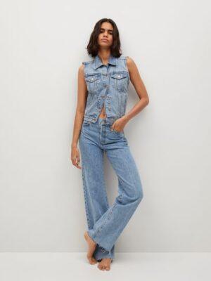 Mango  Wideleg high-waist jeans