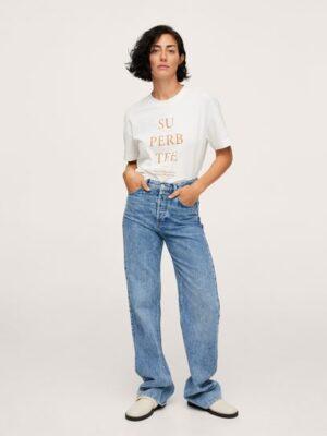 Mango  Katoenen oversized T-shirt