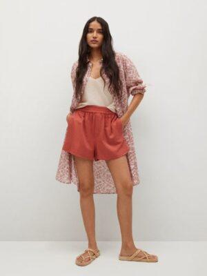 Mango  Katoenen blouse met print