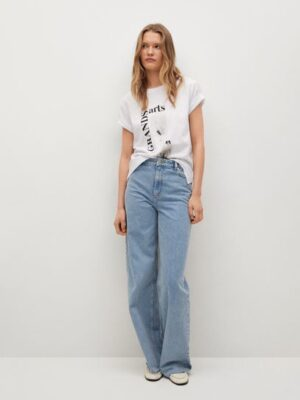 Mango  Katoenen T-shirt met print
