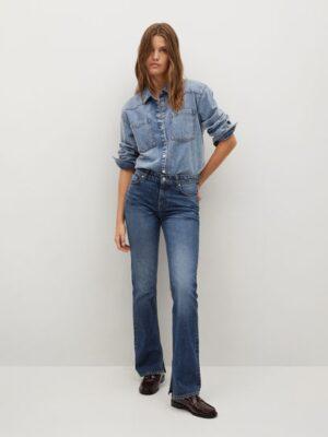 Mango  Rechte jeans met split