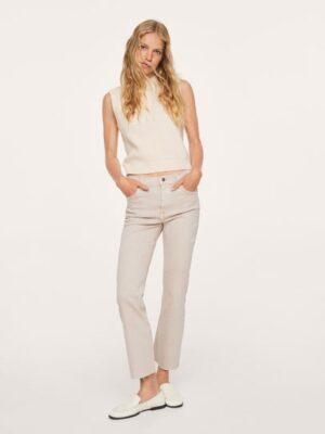 Mango  Crop flared jeans