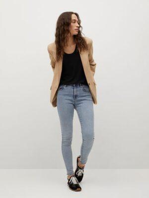 Mango  Elsa skinny mid-rise jeans