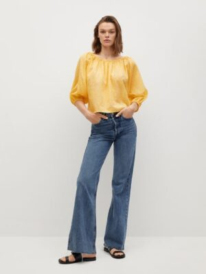 Mango  Bedrukte katoenen blouse