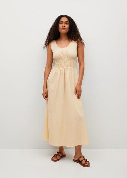 Mango  Getextureerde katoenen jurk