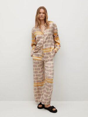 Mango  Bedrukte oversized blouse
