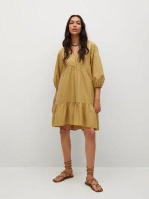 Mango  Katoenen jurk met ruches