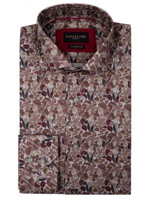 Cavallaro Napoli Heren Overhemd - Armando Overhemd - Grijs -