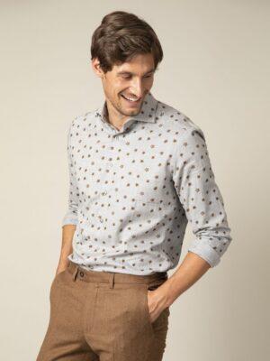 Cavallaro Napoli Heren Overhemd - Ferrano Overhemd - Grijs -
