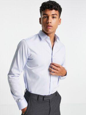 Jack & Jones - Essentials - Superslim-fit strijkvrij net overhemd in blauw
