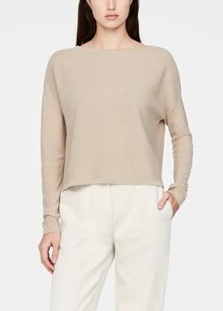 SarahPacini EU Deze trui heeft stijlvolle gaatjes en verleent een zachte textuur aan je nieuwe seizoensoutfits. Een unieke combinatie van gerecyclede viscose en linnen.