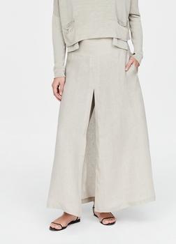 SarahPacini EU Maak een statement met deze linnen rok - brede pijpen