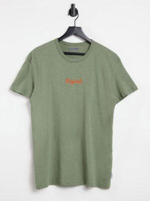 Jack & Jones - Originals - T-shirt met logo en in groen