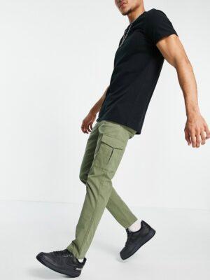 Jack & Jones Premium - Skinny cargobroek met stretch in kaki-Groen