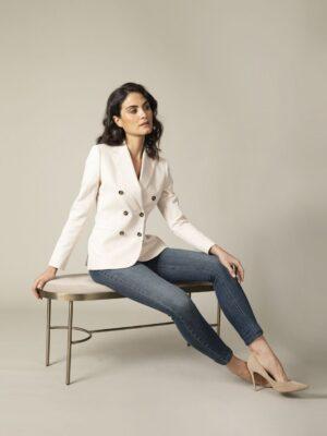 Cavallaro Napoli Dames Blazer - Elena Blazer - Beige -