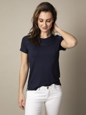 Cavallaro Napoli Dames Adriana T-shirt - Donkerblauw -