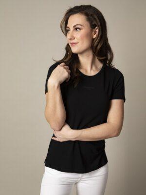 Cavallaro Napoli Dames Adriana T-shirt - Zwart -