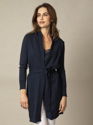 Cavallaro Napoli Dames Vest - Ledra cardigan - Donkerblauw -