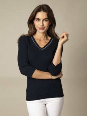 Cavallaro Napoli Dames Pullover - Garda V Pullover - Donkerblauw -