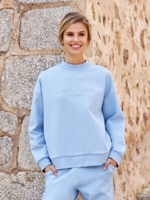 Cavallaro Napoli Dames Sweater - Alia Sweat - Blauw -