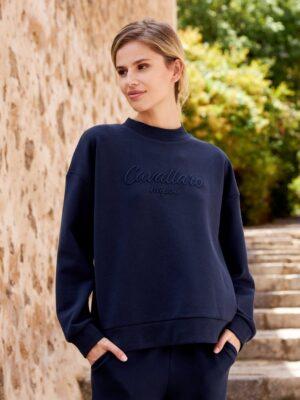 Cavallaro Napoli Dames Sweater - Alia Sweat - Donkerblauw -