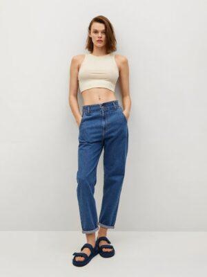 Mango  Slouchy jeans met elastische tailleband