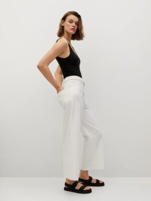 Mango  High-waist jeans in culottestijl