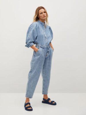 Mango  Slouchy jeans met bandplooien
