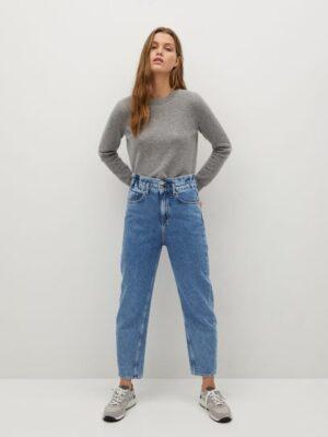 Mango  Baggy jeans met elastische tailleband