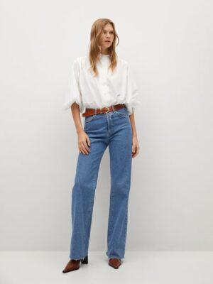 Mango  Plumetis katoenen blouse